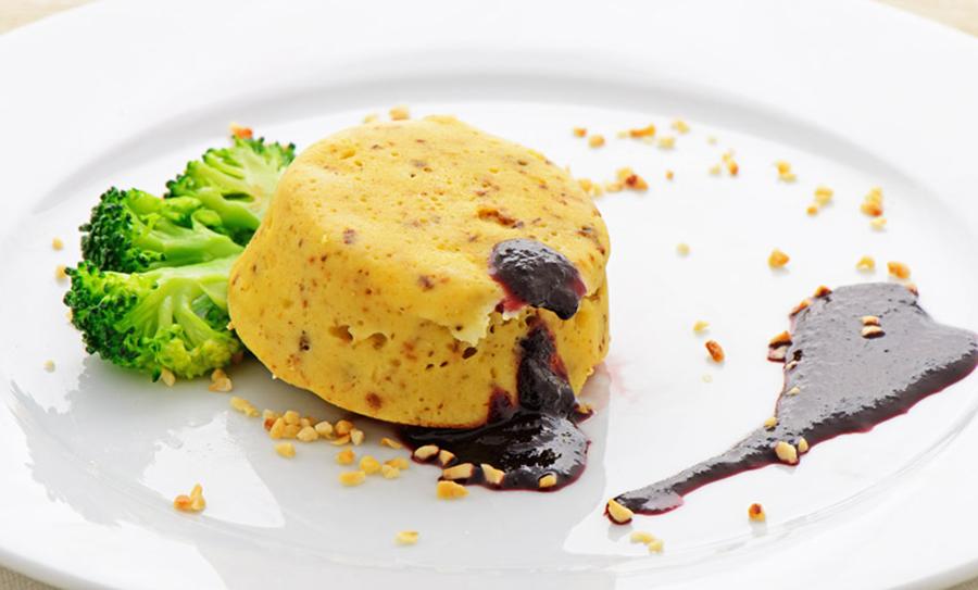 Piccoli soufflè di broccoli e toma di capra Chef Roberto Di Mauro