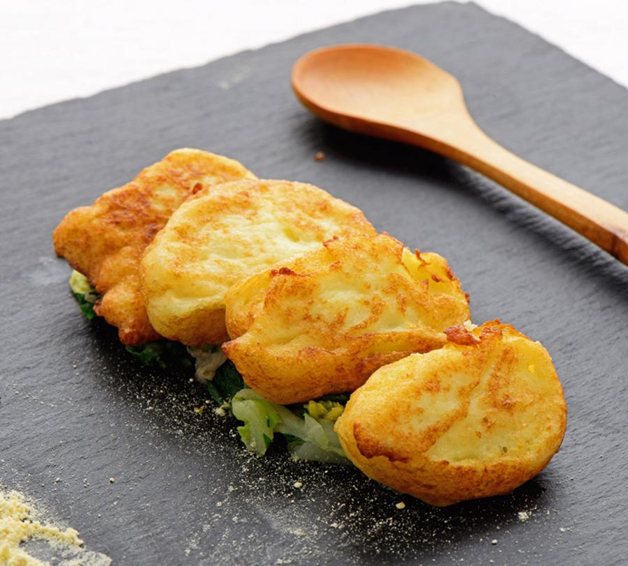 Frittelle di cavolfiore con farina di ceci Chef Roberto Di Mauro